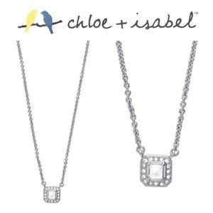 🆕 Crystal Square Pendant Necklace c+i N119CL